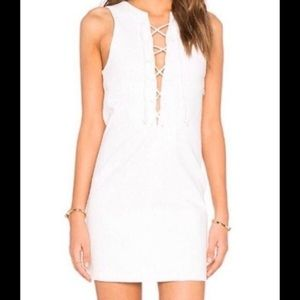 NWT Kendall + Kylie Lace-up Shift Dress